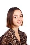 Ritratto di bella giovane donna del brunette Immagine Stock