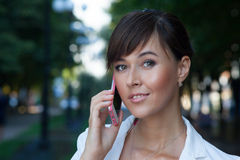 Ritratto di bella giovane donna di affari Fotografia Stock Libera da Diritti