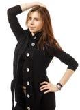 Ritratto di bella giovane donna felice Fotografia Stock Libera da Diritti