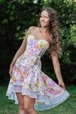 Ritratto di bella giovane donna naturale Immagini Stock Libere da Diritti