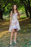 Ritratto di bella giovane donna naturale Fotografie Stock Libere da Diritti