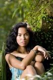 Ritratto di bella giovane donna pacifica dell'isolano Immagine Stock