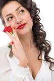 Ritratto di bella giovane donna sorridente Immagini Stock Libere da Diritti