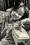 Ritratto di bella giovane ragazza asiatica alla moda Immagine Stock