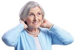 Ritratto di bella posa senior della donna Immagine Stock Libera da Diritti