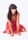 Ritratto di bella ragazza Immagini Stock Libere da Diritti