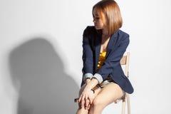 Ritratto di bella ragazza adulta Fotografie Stock
