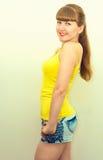 Ritratto di bella ragazza allegra Fotografia Stock Libera da Diritti