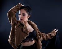 Ritratto di bella ragazza asiatica Immagini Stock Libere da Diritti