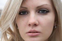 Ritratto di bella ragazza con capelli chiari Immagini Stock