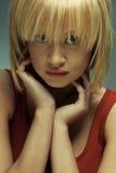 Ritratto di bella ragazza con pelle perfetta Immagini Stock