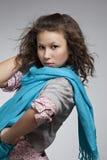 Ritratto di bella ragazza con un vestito Fotografia Stock Libera da Diritti