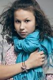 Ritratto di bella ragazza con un vestito Fotografia Stock