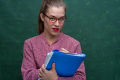 Ritratto di bella ragazza dell'allievo Fotografia Stock Libera da Diritti