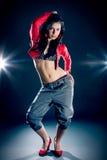 Ritratto di bella ragazza di dancing Fotografie Stock Libere da Diritti