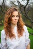 Ritratto di bella ragazza di redhead Immagine Stock Libera da Diritti