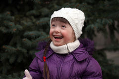 Ritratto di bella ragazza felice Fotografie Stock
