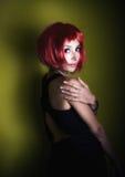 Ritratto di bella ragazza rossa dei capelli Fotografia Stock
