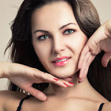 Ritratto di bella ragazza sexy Fotografie Stock