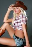 Ritratto di bella ragazza sexy del rodeo Immagine Stock Libera da Diritti