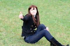 Ritratto di bella ragazza sorridente Fotografia Stock