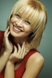 Ritratto di bella ragazza sorridente Immagini Stock Libere da Diritti