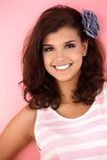 Ritratto di bella ragazza sorridente Fotografie Stock Libere da Diritti
