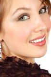 Ritratto di bella ragazza sorridente fresca Fotografie Stock Libere da Diritti