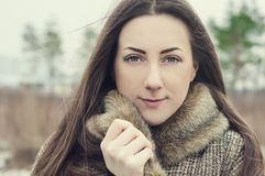 Ritratto di bella ragazza ucraina con gli occhi marroni Fotografia Stock Libera da Diritti