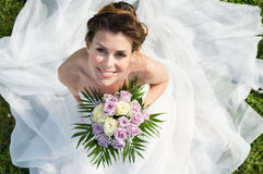 Ritratto di bella sposa fotografia stock libera da diritti