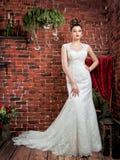 Ritratto di bella sposa Immagini Stock Libere da Diritti