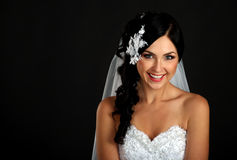 Ritratto di bella sposa felice Immagini Stock Libere da Diritti