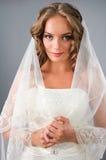 Ritratto di bella sposa sotto il velare Fotografia Stock Libera da Diritti