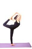 Ritratto di bella yoga asiatica di invio della più giovane donna per healt immagine stock