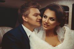 Ritratto di belle appena coppie merried Immagine Stock