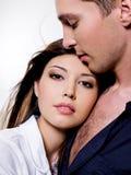 Ritratto di belle coppie sessuali Fotografie Stock Libere da Diritti