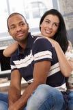 Ritratto di belle diverse coppie a casa Immagine Stock Libera da Diritti