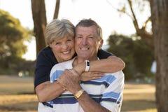 Ritratto di belle e coppie mature felici senior americane AR Immagine Stock Libera da Diritti