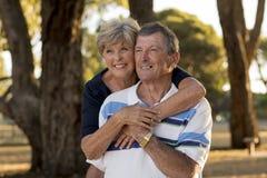 Ritratto di belle e coppie mature felici senior americane AR Fotografia Stock Libera da Diritti