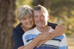 Ritratto di belle e coppie mature felici senior americane AR Fotografia Stock