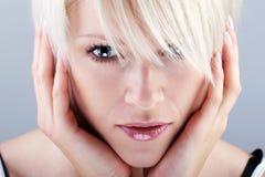Ritratto di bellezza del primo piano Fotografie Stock