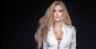 Ritratto di bellezza della donna elegante Fotografia Stock Libera da Diritti