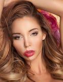 Ritratto di bellezza della giovane donna, molla Fotografia Stock
