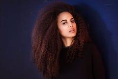 Ritratto di bellezza della ragazza afroamericana Fotografia Stock