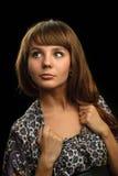Ritratto di bellezza di giovane donna Fotografia Stock