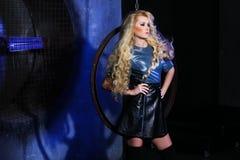Ritratto di bellezza di modo della donna, Girl Hairstyle di modello, capelli biondi Fotografia Stock