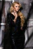 Ritratto di bellezza di modo della donna, Girl Hairstyle di modello, capelli biondi Immagini Stock
