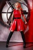 Ritratto di bellezza di modo della donna, Girl Hairstyle di modello, capelli biondi Fotografie Stock