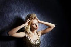 Ritratto di bellezza elegante bionda Fotografie Stock