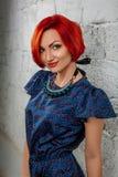 Ritratto di bellezza Giovane donna rossa Immagini Stock